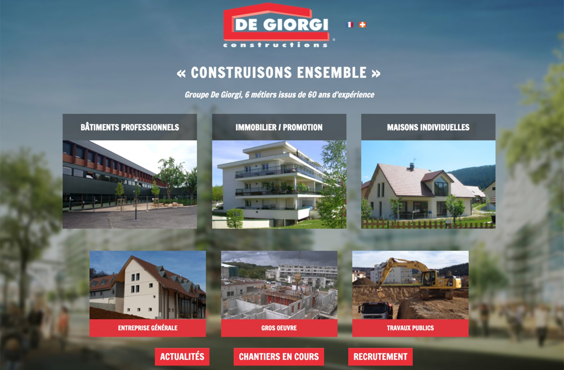 Exemple : Site web de la Société De Giorgi